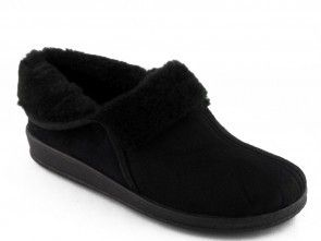 Dames Pantoffel Zwart Warm Comfort