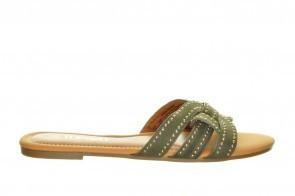 Dames Slippers Donkergroen Fashion