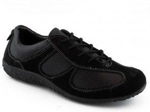 Damesschoen Zwart Leder Comfort