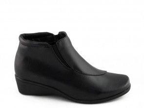 Damesschoen Zwart Velcro Rits Easy Step
