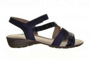 Donkerblauwe Lederen Velcro Sandaal Gabor