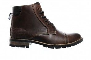 Donkerbruine Leder Bottines