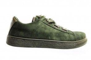 Fabs Khaki Sneakers Met Satijnen Veters