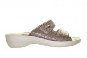 Fly Flot Slipper Taupe Met  Velcro