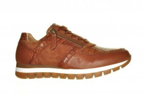 Gabor Sneaker Cognac Kroko