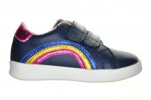 Goedkope Blauwe Meisjesschoen Velcro Regenboog