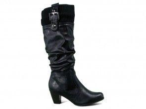 Goedkope Lange Zwarte Laarzen