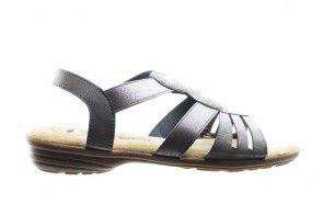 Grijze Comfortabele Sandaal Met Rekkers