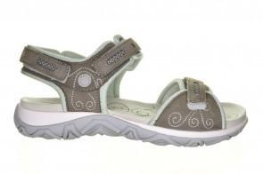 Grijze Sportieve Comfort Sandaal Velcro Allrounder