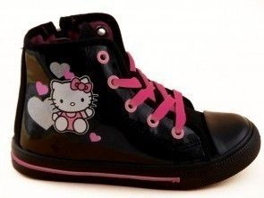 Hello Kitty Basket Zwart Lak