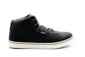 Hoge Sneaker Heren Zwart