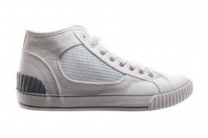 Hoge Witte Canvas Sneakers