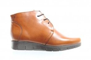 Hush Puppies Cognac Bottines Comfort
