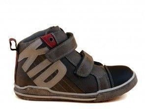 Jongensschoenen Zwart Grijs Velcro