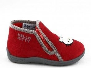 Kinderpantoffel Hello Kitty Rood