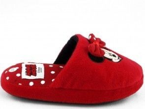 Kinderpantoffel Minnie Mouse Rood