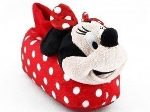 Kinderpantoffel Minnie Mouse Rood Wit