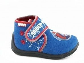 Kinderpantoffel Spiderman Blauw Velcro