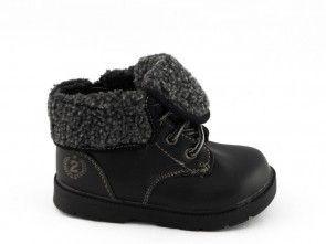 Kinderschoen Bottine Zwart Hoog Warm One Step