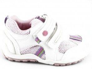 Kinderschoen Wit Roze One Step