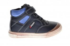 Kinderschoenen Blauw Leder