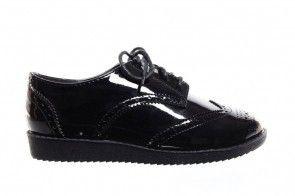 Kinderschoenen Zwart Lak Brogues