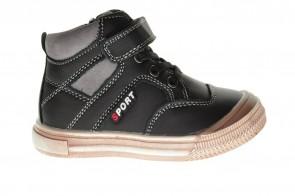 Kinderschoenen Zwart Leder