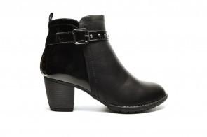 Kortle Laarzen Zwart Lak