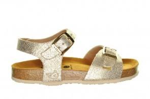 Lederen Sandalen Beige Glitter Plakton