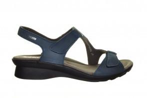 Mephisto Blauwe Geklede Sportieve Lederen Sandaal