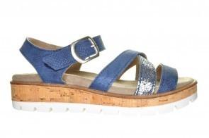 Mia 02 Blue Coruna Mirel Blauwe Sandaal