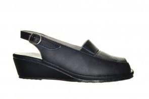 Mirel Blauwe Sandaal Met Sleehak