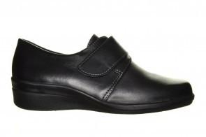 Mirel Jupiter 02 Zwarte Volledig Lederen Schoen Met Velcro