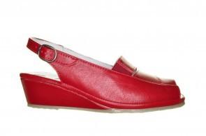 Mirel Rode Sandaal Met Sleehak