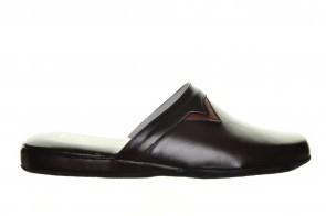 Pantoffels Bruin Buffel Leder