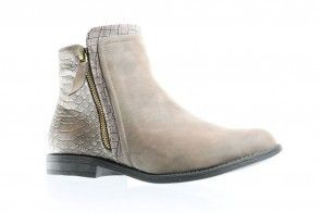 Platte Taupe Korte Laarzen