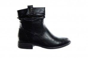 Platte Zwarte Korte Laarzen