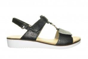 Rieker Sandalen Zwart Elegant