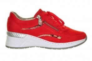 Rieker Sneaker Rood Fashion