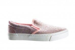 Roze Glitter Mocassin