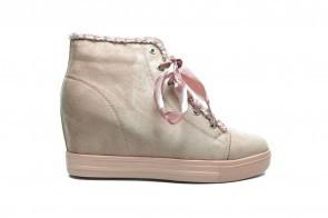 Roze High Heel Sneaker