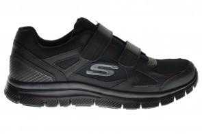 Skechers Heren Zwarte Velcro Estello