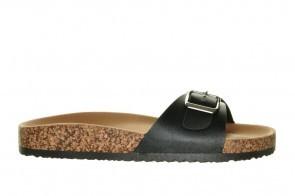 Slippers 1band Zwart