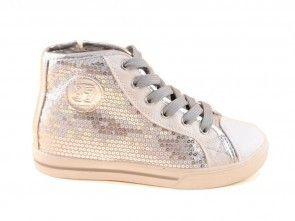Sneaker Hoog Zilver