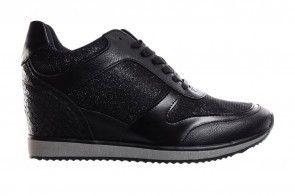 Sneaker Verhoogde Hiel Zwart