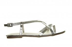 Sprox Platte Sandalen Dames Zilver