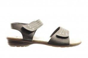 Taupe Comfortabele Sandaal Met Velcro