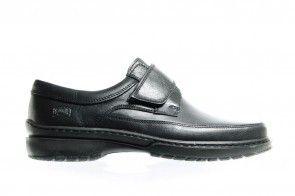 Velcroschoenen Heren Comfort Leder