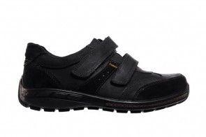 Velcroschoenen Heren Zwart Leder