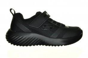 Volledig Zwarte Sneaker Uniform Skechers Velcro